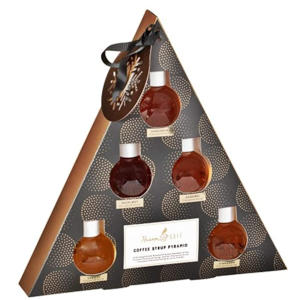 Set of 6 Flavoured Coffee Syrup Pyramid