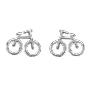 Sterling Silver Bike Earrings