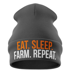 Eat Sleep Farm Hat