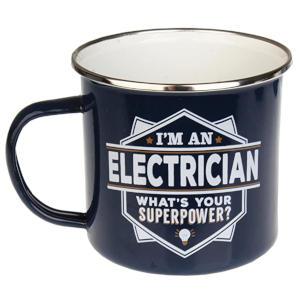 Enamel Personalised Electrician Mug
