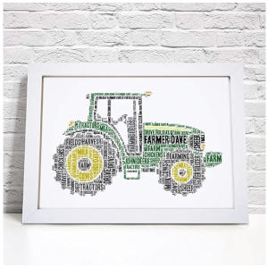 Personalised Farm Tractor Print