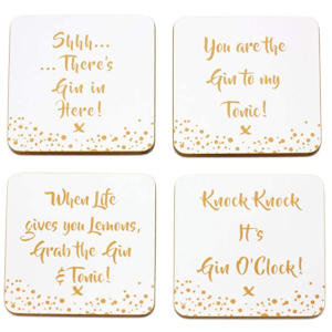 Gin Coasters - Set of 4