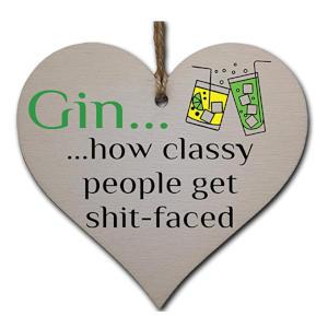 Gin Lovers Novelty Heart Sign