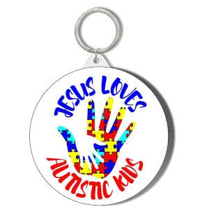JESUS LOVES AUTISTIC KIDS Keyring