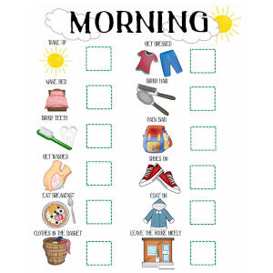 Kids Morning and Evening Routine Charts