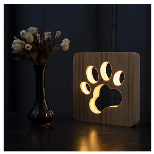 LED Night Light Dog Paw