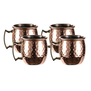 4 Moscow Mule Copper Cups