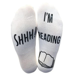 'Shhh I'm Reading' Funny Novelty Socks