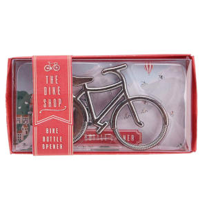 Silver Bicycle Bottle Opener