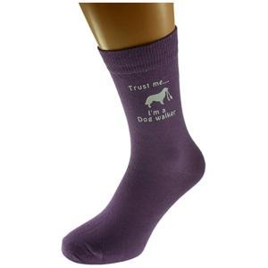 Dog Walker Purple Socks
