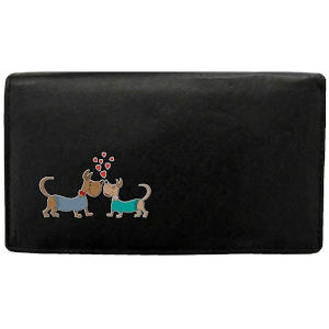 Dogs in Love Black Womens Purse