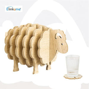 Wooden Sheep Coasters