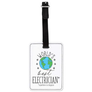 Best Electrician Luggage Tag