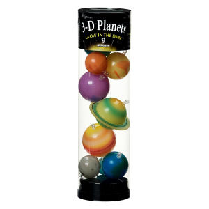 3-D Planets Glow-in-the-Dark