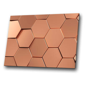 Rose Gold Pink Hexagon Canvas