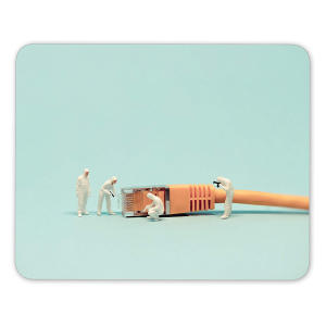 Cable Mouse Mat Pad