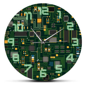 Electronic Chip Circuit Board Clock