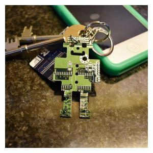 Circuit Board Robot Keychain