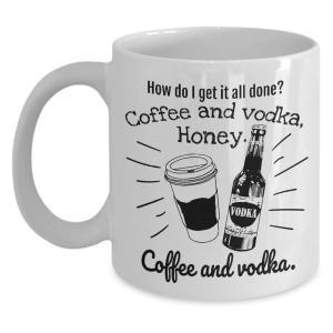 Coffee and Vodka Novelty Mug