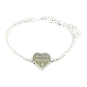 Personalised Engraved Charm Bead Bracelet