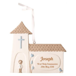 Personalised Communion Church Keepsake