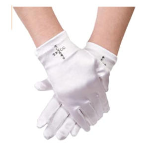 Satin Girl's Short Communion Glove
