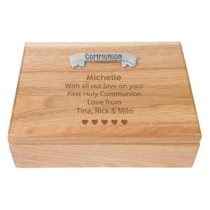 Communion Engraved Jewellery Box