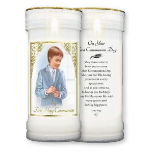 Holy Communion Pillar Candle
