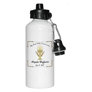 Personalised Holy Communion Water Bottle