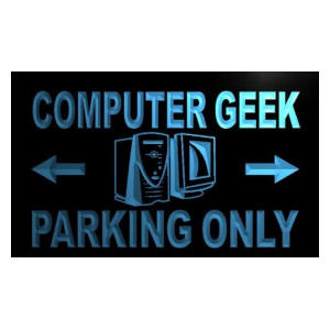 Computer Geek Parking Only Neon LED Sign