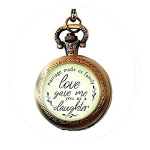 Daughter in Law Pocket Watch Necklace