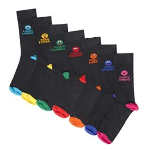7 Pack Emoji Socks