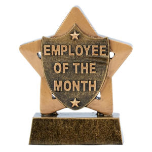 Star Employee of the Month Trophy