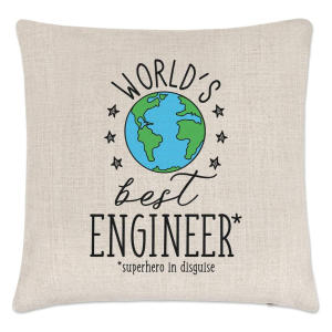 World's Best Engineer Cushion Cover