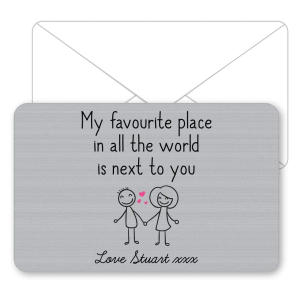 My Favourite Place Metal Wallet Card