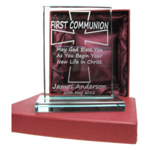 Engraved Holy Communion Presentation Glass