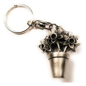 Gardeners Flower Pot Keyring