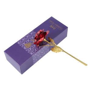 Foil Trim Artificial Rose