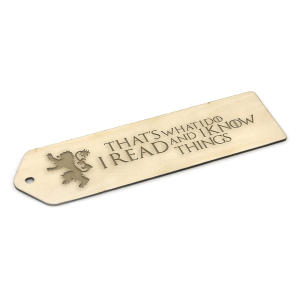 Game of Thrones Wooden Bookmark