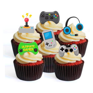 Gamer Theme Edible Cupcake Toppers