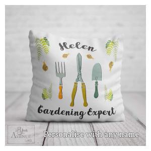 Personalised Gardening Expert Cushion