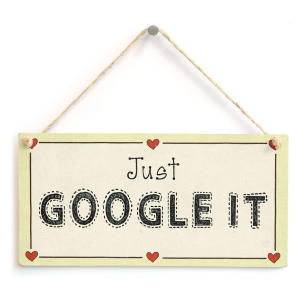 Just Google It Sign