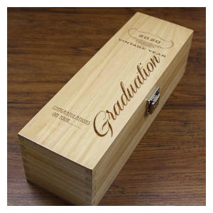 Personalised Graduation Wooden Wine or Champagne Box