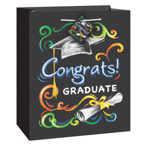 Chalkboard Graduation Gift Bag