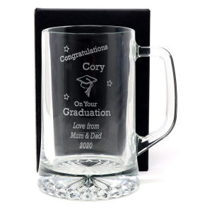 Graduation Design Pint Glass