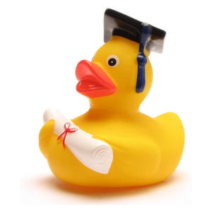 Funny Academic Graduation Rubber Duck
