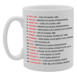 Grammar Expletive Mug