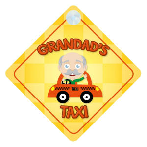 Grandad's Taxi Car Sticker
