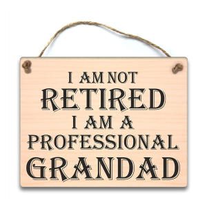 Professional Grandad Hanging Plaque