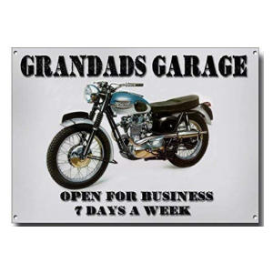 Grandads Garage Metal Sign
